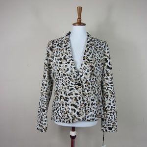 Calvin Klein Leopard Blazer Jacket